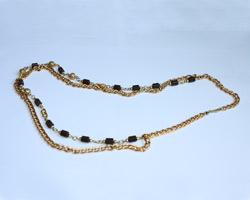 Ожерелье  из  турманиевой керамики на цепочке (TB-15)